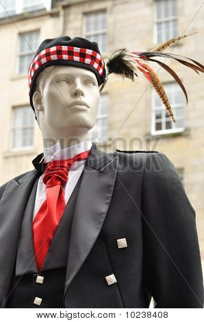 Manequin In Traditional Scottish Dress