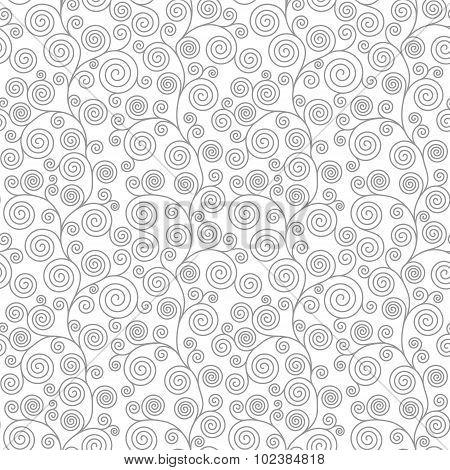 Seamless Pattern With Curvy Spirals
