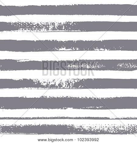 Textured Stripes. Brush stripes vector seamless pattern.