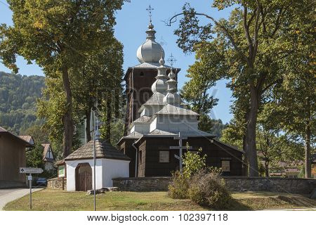 Old Wooden Orthodox Catholic Church, Uscie Gorlickie, Poland
