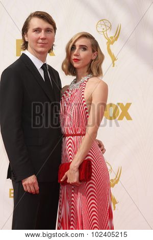 LOS ANGELES - SEP 20:  Paul Dano, Zoe Kazan at the Primetime Emmy Awards Arrivals at the Microsoft Theater on September 20, 2015 in Los Angeles, CA