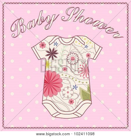 Baby shower girl with bady clothing