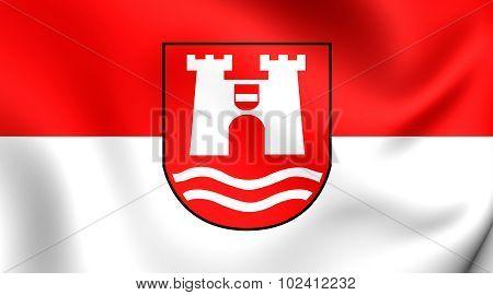 Flag Of Linz City, Austria.