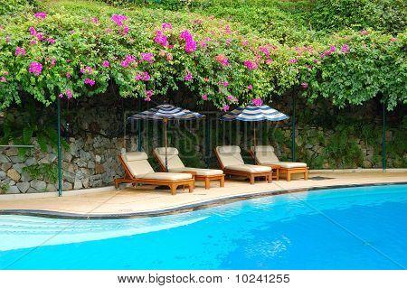 Swimming Pool At The Luxury Hotel, Phuket, Thailand