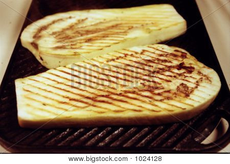 Two Slices Of Grilled Eggplant
