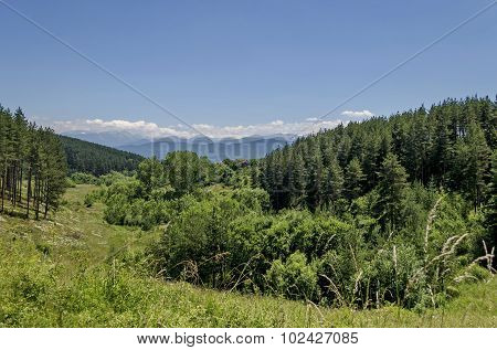 Mountain Plana and beautiful village Alino