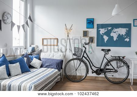 Bike In Teenager's Room