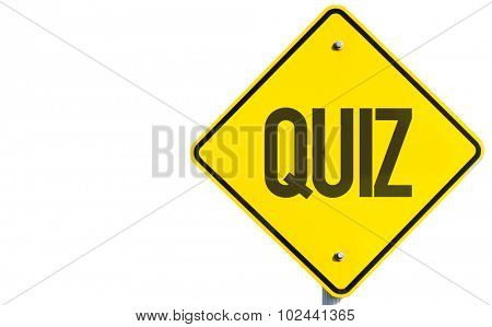 Quiz sign isolated on white background