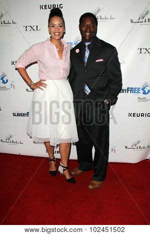 LOS ANGELES - SEP 21:  Glady Ferguson, Nick Ferguson at the The Human Rights Hero Awards at the Beso on September 21, 2015 in Los Angeles, CA