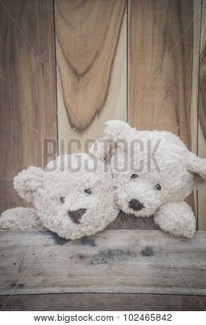 Teddybears playing