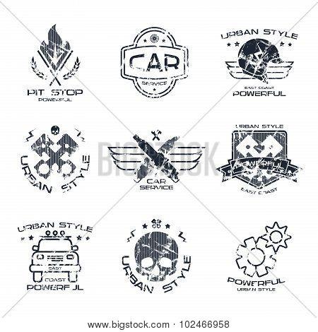 Car Service Badges And Logo