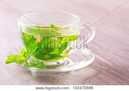Peppermint Tea On A Table
