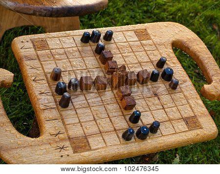 Old Medieval Board Game