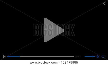 Black glossy video movie media player template