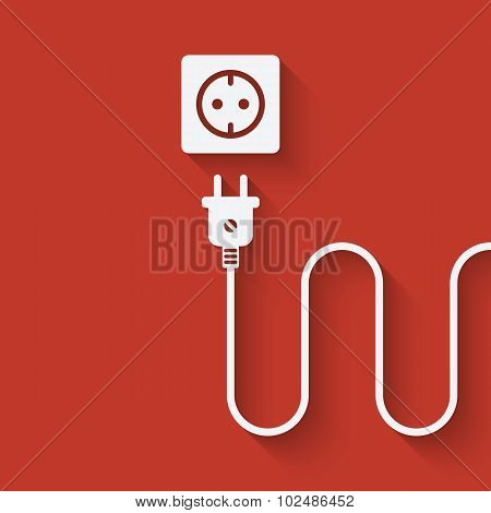 Electric Wire With Plug Near Outlet