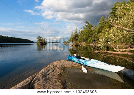 Kayak On Northern Lake