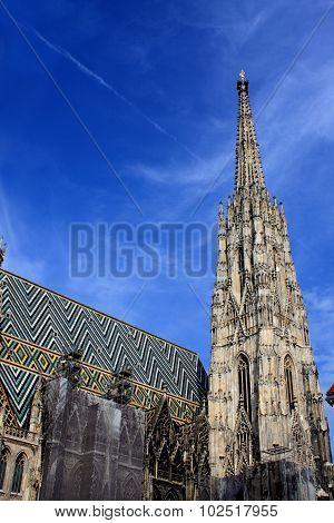 Cathedral On Stephansplatz In Vienna, Austria