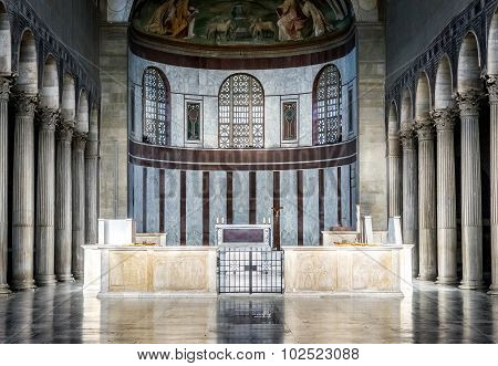 Rome, Italy - October 30: Interior Of The Basilica Of Saint Sabina In Rome, Italy On October 30, 201