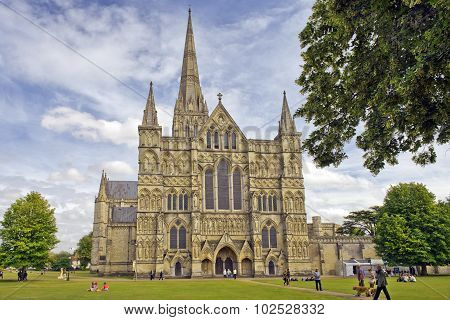 Salisbury Cathedral in England