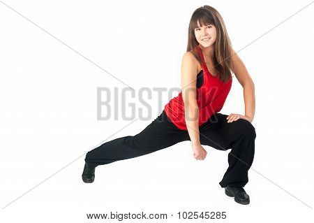 Pretty hip-hop dancer girl