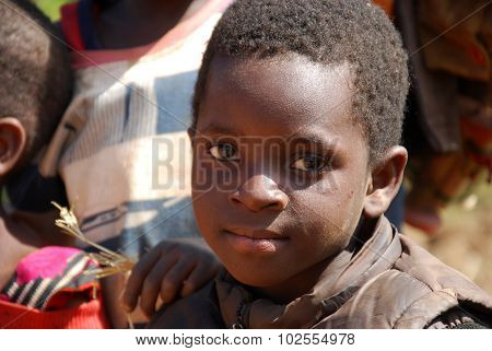 An African child on the Mount of Kilolo, Tanzania - Africa