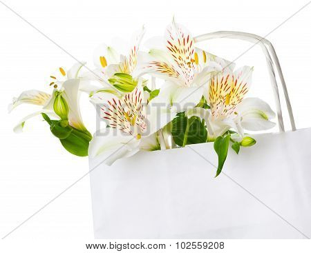 Beautiful bouquet of white flowers for mother's day