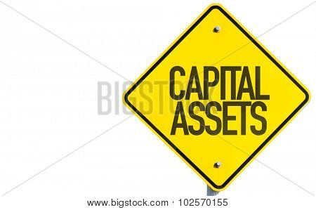 Capital Assets sign isolated on white background poster