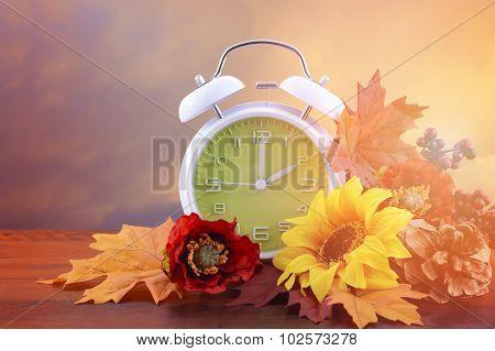 Daylight Saving Time Clock Concept
