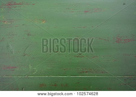 Dark Green Rustic Wood Background.