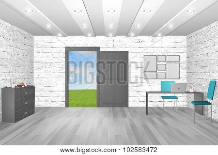 Interior of work room