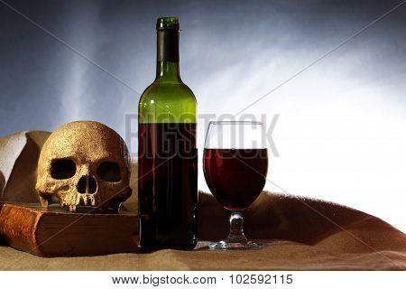 Skull And Wine