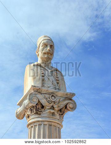 Notis Botsaris monument, Nafpaktos, Greece