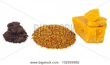 Bee pollen and propolis wax