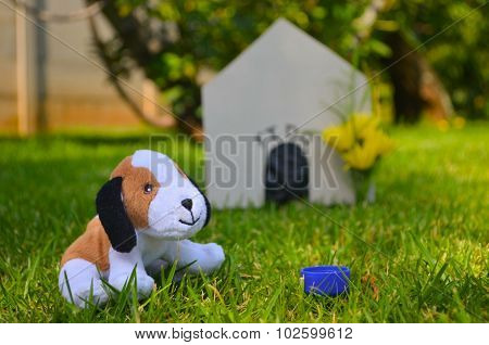 Toy Dog With Dog House