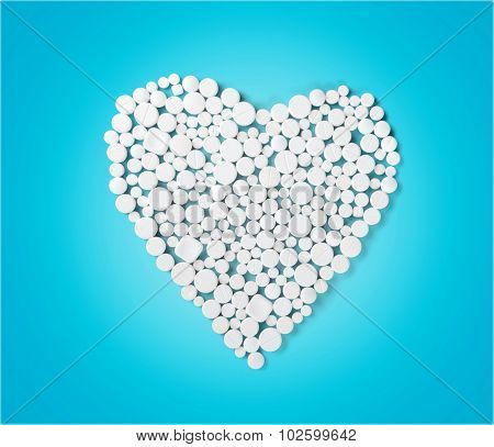Heart Shape Pills.