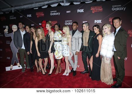 LOS ANGELES - SEP 21:  Scream Queens Cast at the Premiere of FOX TV's
