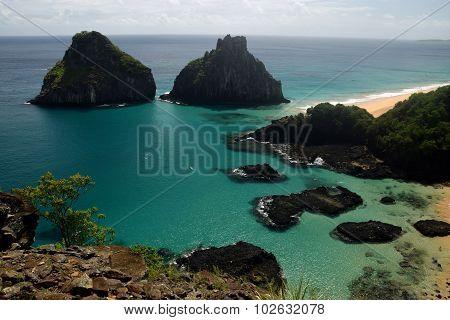 Crystalline sea beach in Fernando de Noronha island, Brazil poster