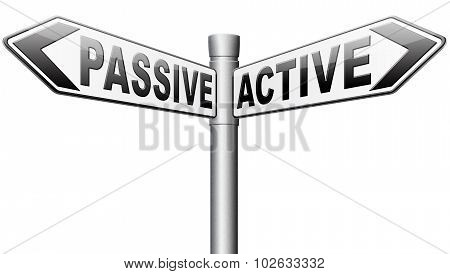 Active Or Passive