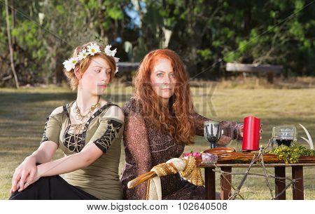 Two Pagans At Altar