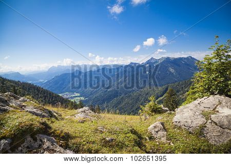 Hiking Trail In The Bavarian Mountains
