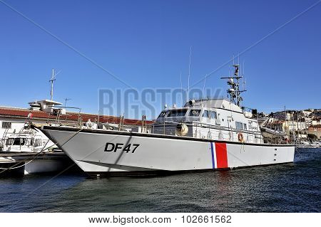 French Customs Boat