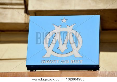 Light Box With The Logo Of The Om Football Club