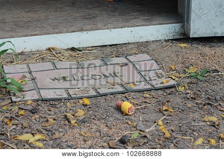 Dirty Welcome mat