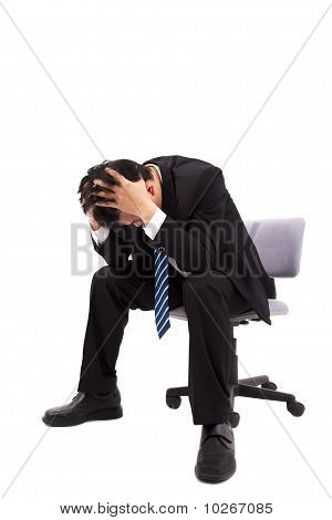Businessman is depressed