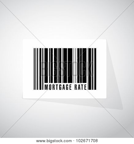 Mortgage Rate Barcode Upc Sign Concept