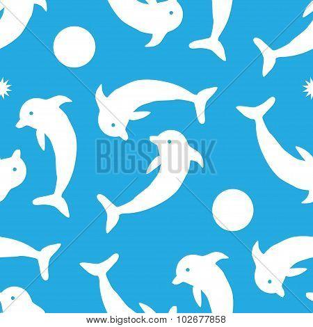 Dolphin seamless pattern