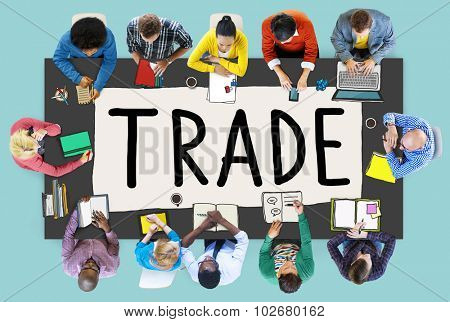 Trade Commerce Exchange Negotiation Economic Concept poster