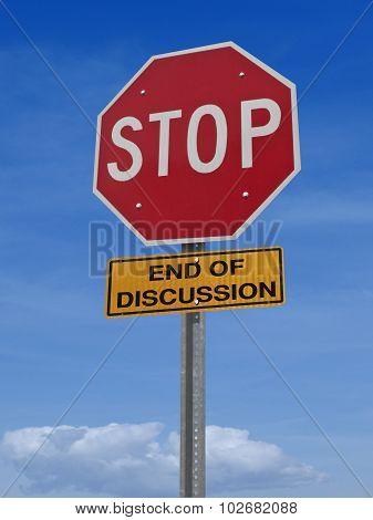 Stop Sign End Discussion