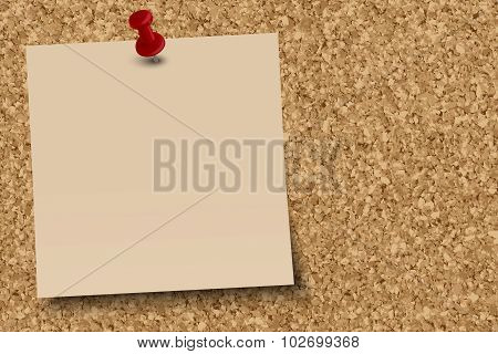 Cork Pinboard With Note Paper