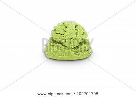 Scoop of pistachio ice cream